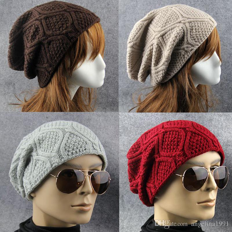 0d2cb78cd4 New True Letter Winter Hat Long Size Knitted Cap High Quality Casual  Beanies for Men & Women Solid Bonnet Cap
