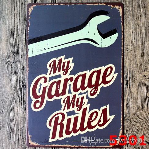 Pinturas de ferro antigo 20 * 30cm sinal de estanho metal reparação de carros Depot pinturas de ferro estadia minha garagem lata cartaz personalidade decoração barra