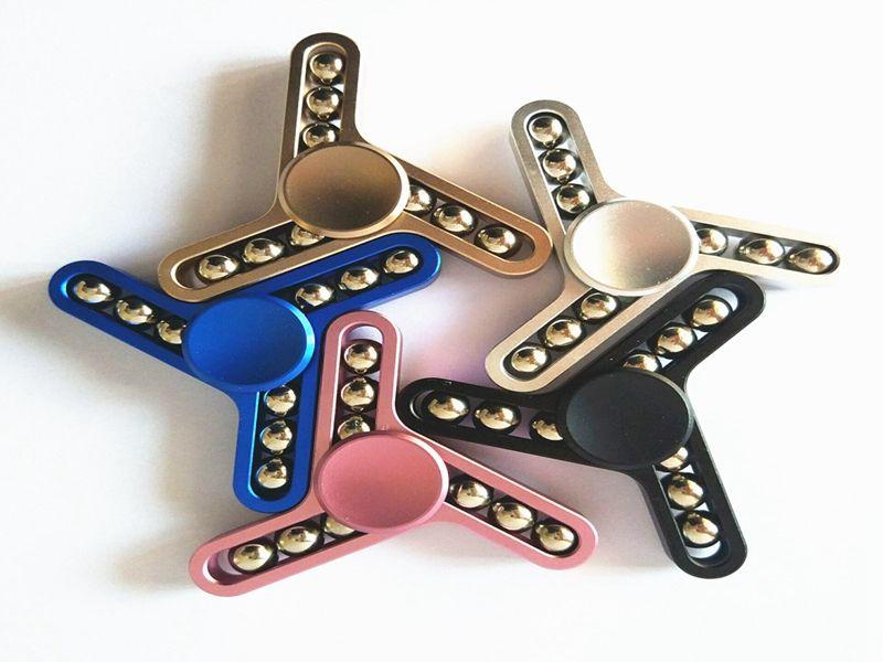 Fingertips Spiral Fingers Gyro Birthday Gyroscope Nine 9 Beads EDC Sensory Fidget Spinner Anti Stress Gyro For Kids Work aholic