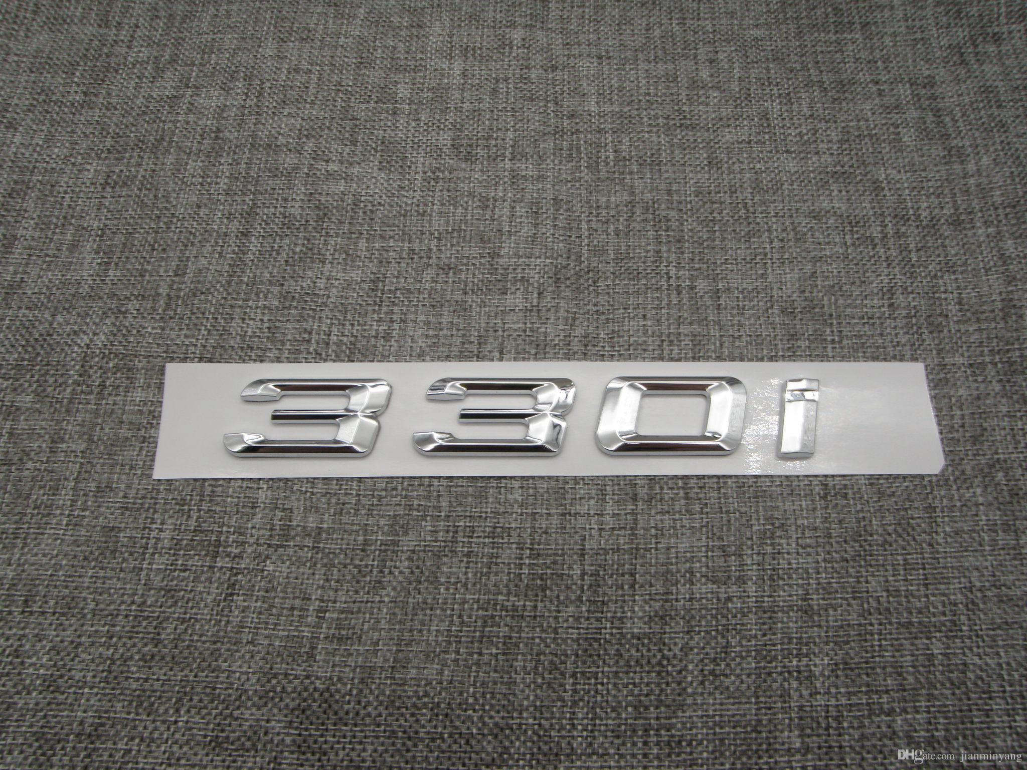 Хром номер багажника задние буквы слово значок эмблема наклейка для BMW 3 серии 330i