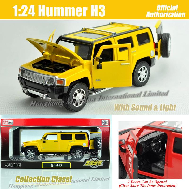 2018 1:24 Scale Metal Diecast Luxury Suv Car Model For Hummer H3 ...
