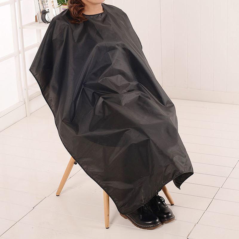 Grande Salão Adulto Corte De Cabelo À Prova D 'Água Pano De Cabeleireiro Barbeiros Cabeleireiro Cape Gown Envoltório Preto Cabeleireiro Cape Gown Envoltório