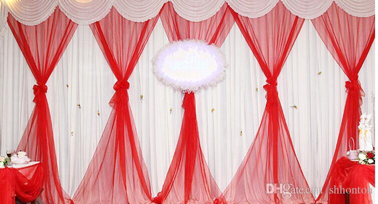 9m length Wedding supplies crystal gauze curtain Bridal color yarn with snow Wedding stair adornment snow yarn WT060