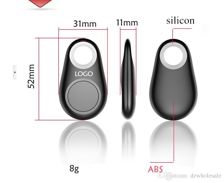 Mini Kablosuz GPS Tracker Araba Akıllı Anahtar Kayıp Akıllı Bulucu ITAG Anti-Kayıp Alarm Izci Android ile 500 adet