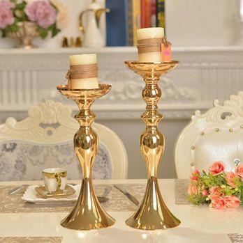 Oro o astilla Portavelas de metal Soporte Flores Florero Candelabro Camino Plomo Candelabros Centro Piezas Deco de boda