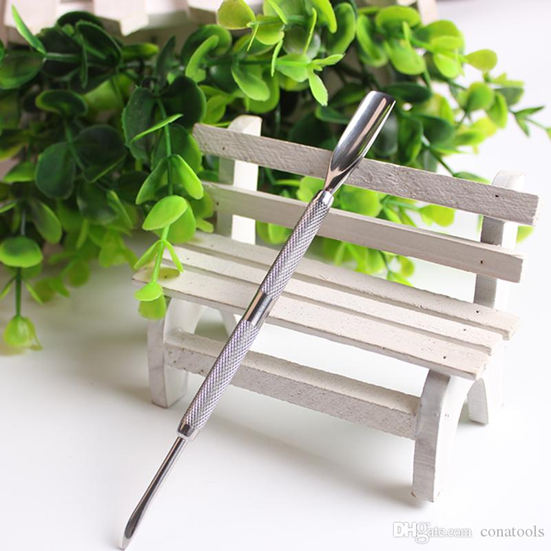 2 Ways Sides Cuticle Spoon Pusher Remover Stainless Steel Essential ...