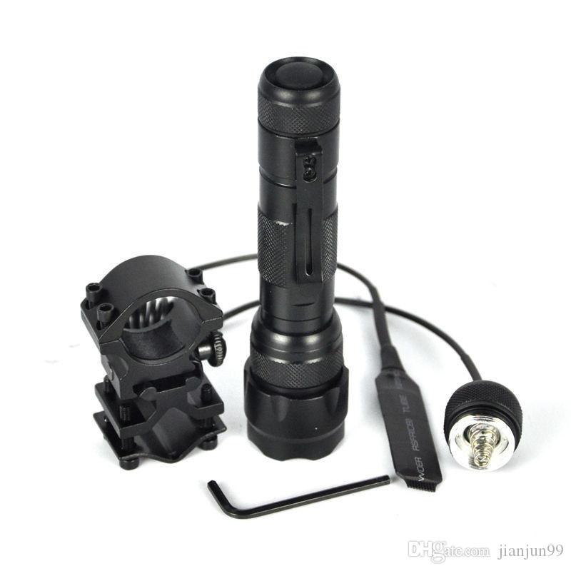18650 UltraFire WF-502B Hunting CREE Led Tactical Flashlight Torch Flash Light White Light Camping Hunting Fishing