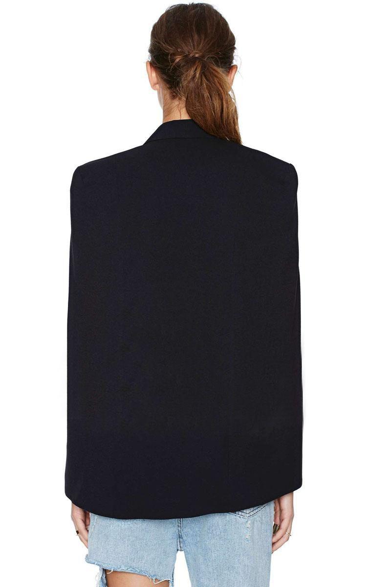 European fashion women's 2017 new sexy personality solid color vent jag poncho top mantle blazer suit casacos cape coat XSSMLXLXXL