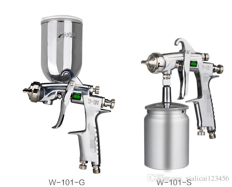 الأصلي W101 بندقية رش اليدوي مع SS داخل بندقية رش المهنية ل K حل ومكافحة التآكل دي إتش إل الحرة الشحن