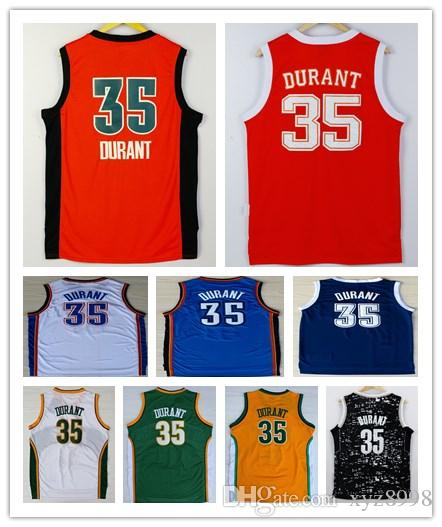 6ccac3ef206 aliexpress wholesale mens kevin durant jersey navy blue white cheap  stitched 2016 new orange 35 kevin