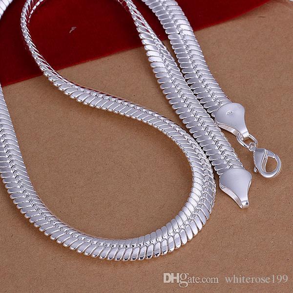 Partihandel - lägsta pris julklapp 925 sterling silver mode halsband + örhängen set ys214