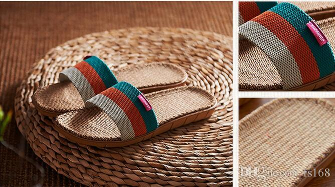 721ab03fbb25e Flax Slipper Linum Usitatissimum Slippers for Men Or Women Summer Breathe  Freely Slipper for Home Indoor Woman Shoes Online with  21.56 Pair on  Fs168 s ...