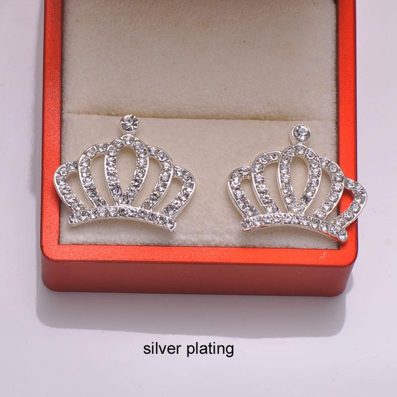 (L0655) free shipping wholesale 10 pcs/lot,metal rhinestone embellishment,27mmx23mm,silver or rose gold plating,flat back