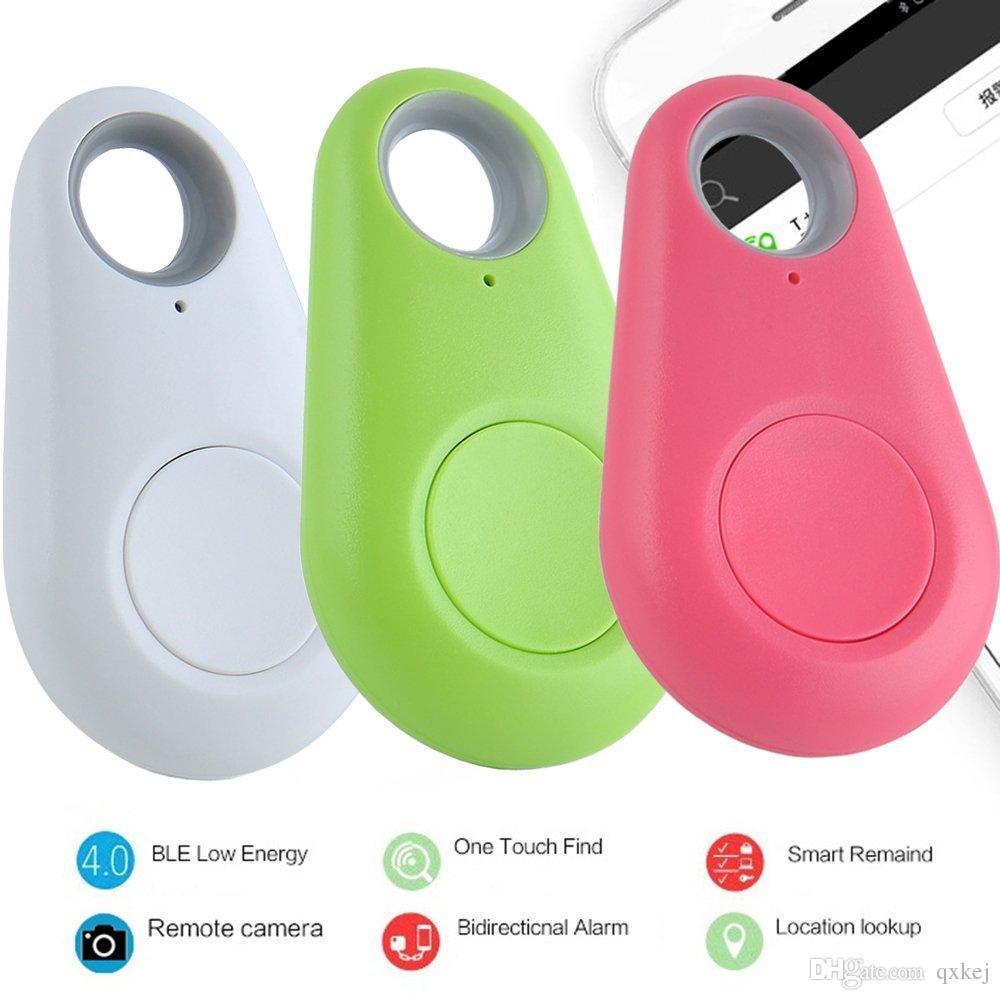 2017 Mini GPS Tracker Bluetooth Buscador de llaves Alarma 8g Buscador de artículos bidireccional para niños, mascotas, ancianos, carteras, automóviles, paquete minorista de teléfonos