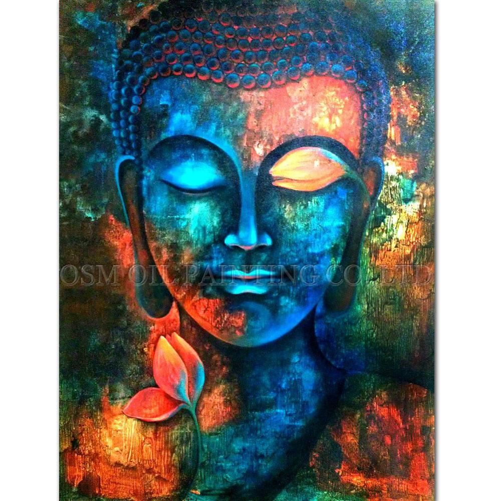 Beautiful Professional Artist Handmade High Quality Buddha Oil Painting On Canvas  Rich Colors Canvas Buddha Painting For Living Room Funny It Gifts Funny  Items From ... Part 31