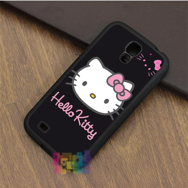 the best attitude 90b18 8a1c5 Girls Hello Kitty Pink And Black phone case for samsung galaxy S3 S4 S5 S6  S6 edge S7 S7 edge Note 3 Note 4 Note 5 #LI5207