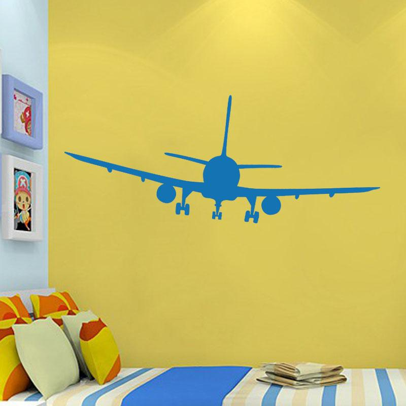 Vinyl Removable Commercial Airliner Wall Decal Home Decor Airplane ...