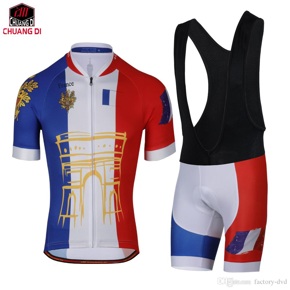 Factory Direct Sales ! Tour De France Cycling Jerseys Quick-Dry Ropa ... baf420147