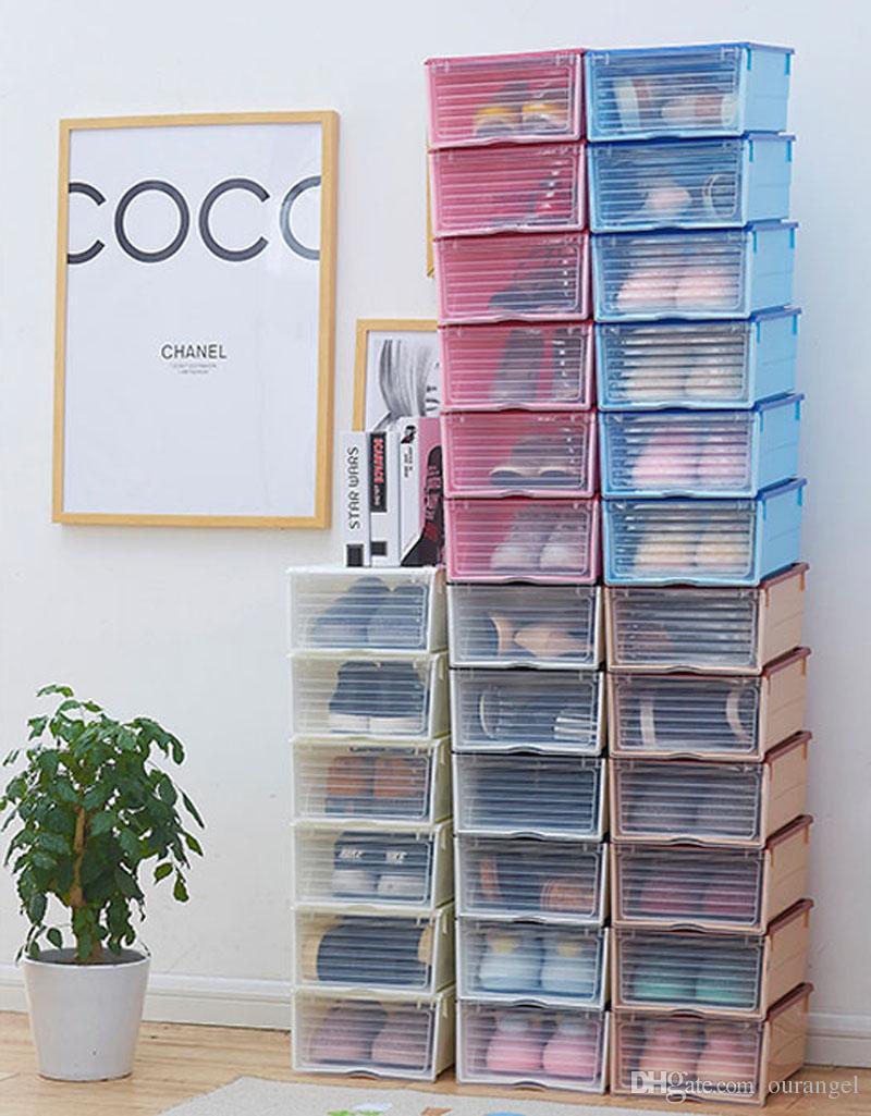 Grosshandel Kunststoff Diy Schuhkarton Schuhe Aufbewahrungsboxen