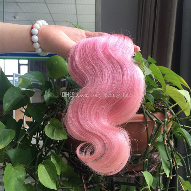 9A Grade Ombre 1B Rose Ombre Cheveux 3 Faisceaux 10-30