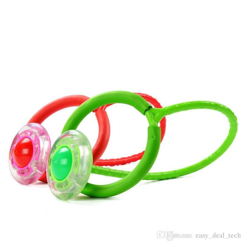 Novas crianças anel de salto adulto aptidão flash QQ Dancer bouncing bola jogado bola pé Com anéis de esponja brinquedos ZJ0396