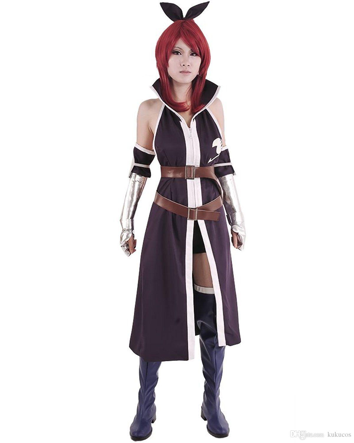 12fc54e20 Kukucos Anime Super Cool Fairy Tail Cloak Erza Scarlet Cosplay Whole Costume  Women Size Halloween Suit Cute Halloween Costumes For Groups Top Group ...