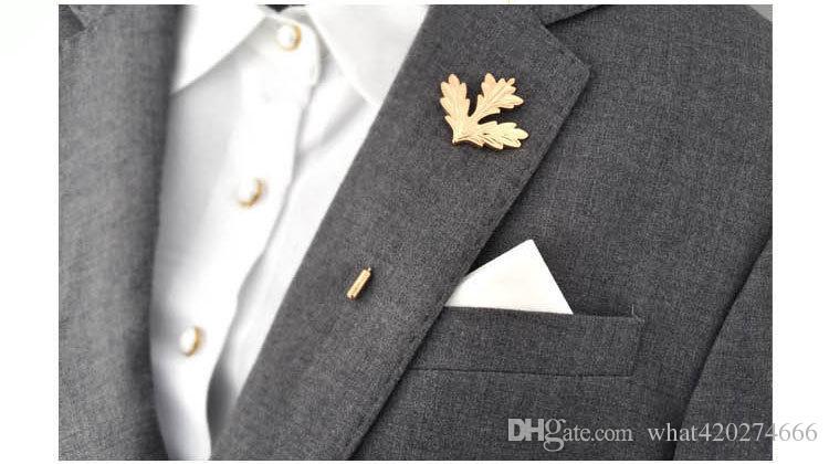2017 New Unisex Men Women Rose Flowers Leaves Brooch Pins Suit Boutonniere Collar Lapel Enamel Pin Maple Leaf Hijab Accessories