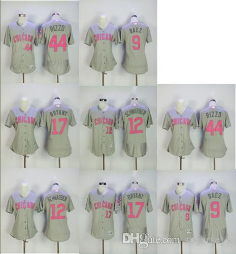 a06c83a8867 ... 2018 mother day women men pink chicago cubs jersey 17 kris bryant 44  anthony rizzo 12