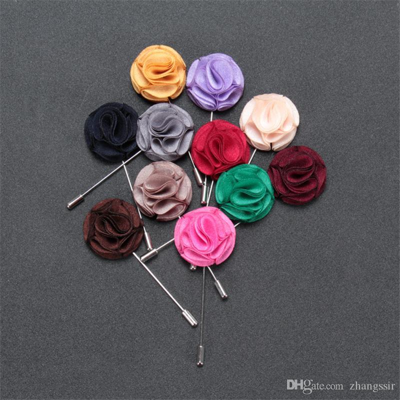 BoYuTe 30 Stücke Handgemachte Männer Anstecknadeln für Anzüge Mode Stoff Blume Brosche Hochzeit Boutonniere Pins Weihnachten Ornament