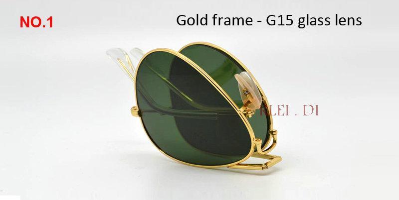 2018 Top grade Metal Frame Vintage folding Sunglasses Women Brand Designer 3479 Men Driving foldable gradient gafas uv400 Pilot Sun Glasses