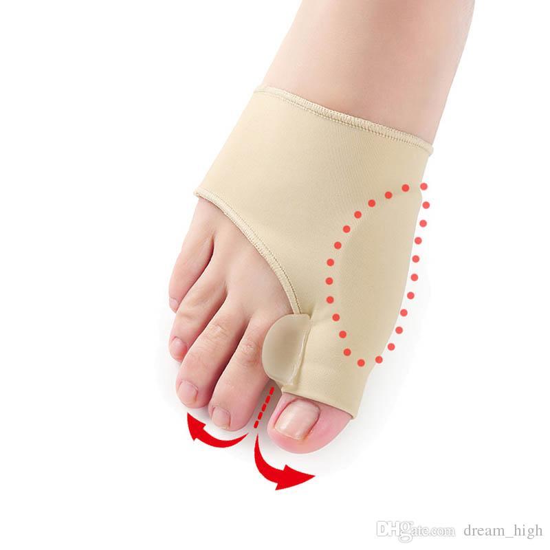 Big Bone ortopedico borsite correzione pedicure calzini silicone alluce valgo correttore bretelle dita dei piedi separatore piedi strumento di cura 1 paio = 2 pezzi