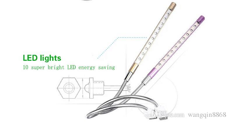 Alta Qualidade Flexível Ultra Brilhante Mini 10 LEDS USB Luz Computador Lâmpada LED Para PC Computador Portátil Conveniente para leitura