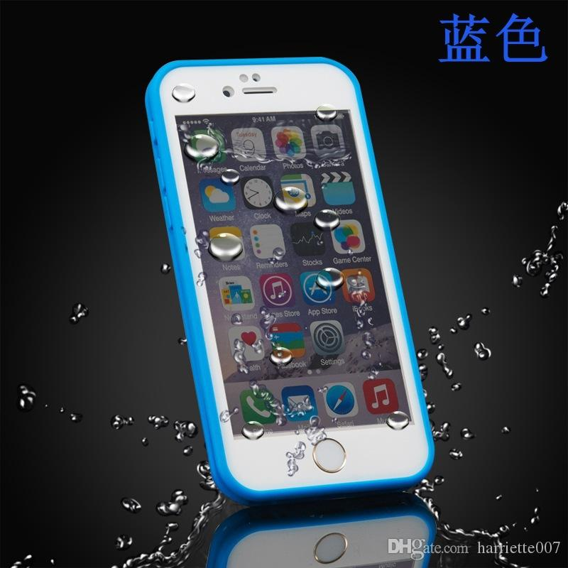 100% Sealed Waterproof Full Body Water Resistant Soft TPU+PC case Gel Front & Back Case For iPhone 7 Plus 6S 6 SE 5 5S