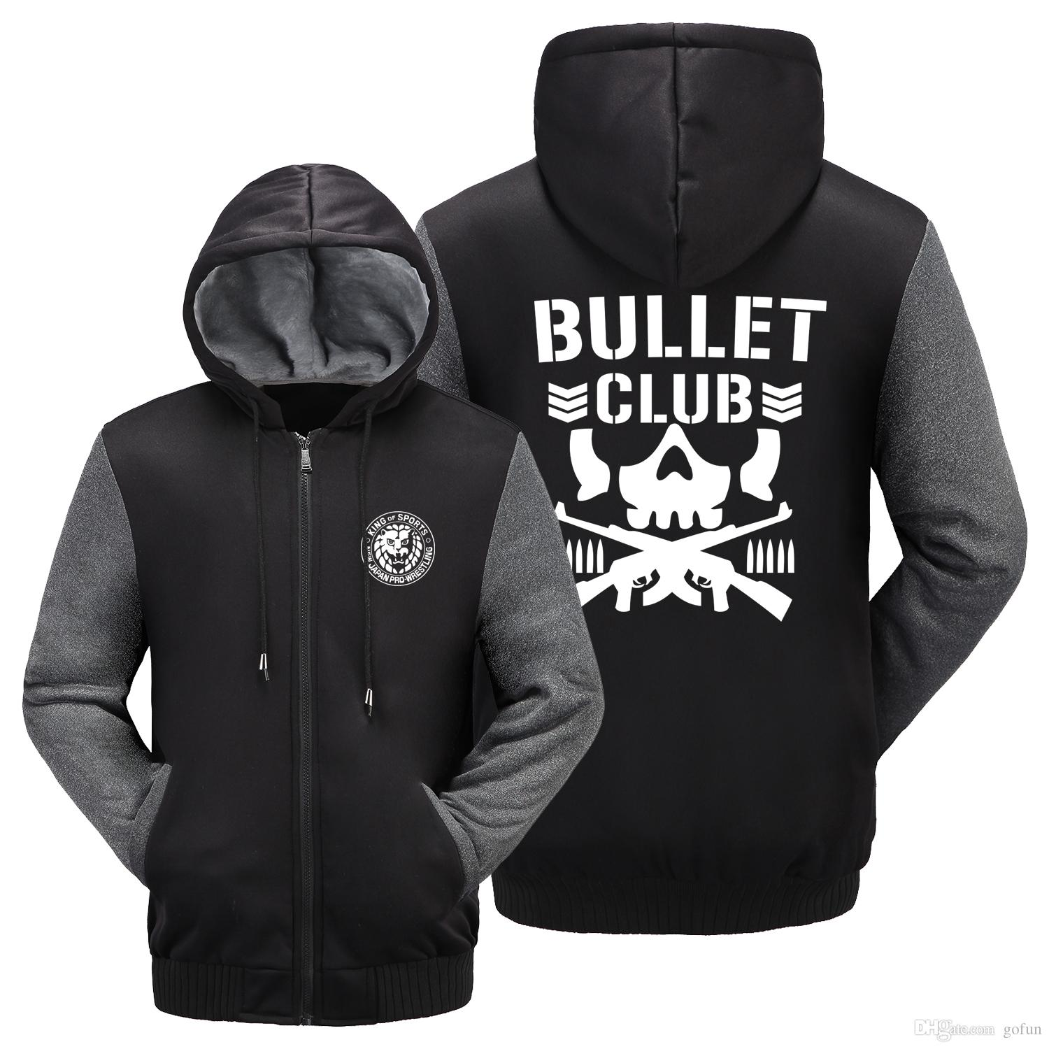 e50a717b2ffce NEW BULLET CLUB NEW JAPAN PRO WRESTLING PURORESU NJPW BLACK JACKET HOODIE  US Size