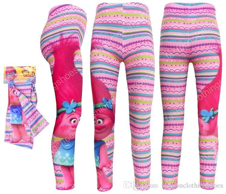 11 - 2017 Girls Leggings Trolls Pants For Girls Pants Girls Jeggings
