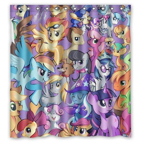 2018 Custom Cute Cartoon My Little Pony Waterproof Fabric Bathroom Shower Curtain 66 X 72 From Dhkey2014 3517