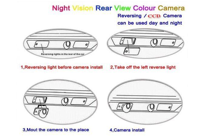 Car Camera For Honda Crosstour 2011 Rear View Camera / HD CCD RCA NTST PAL / License Plate Light OEM
