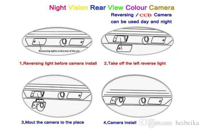 Автомобильная камера заднего вида для Volkswagen VW Caddy Reverse Camera / HD CCD RCA NTST PAL / фонарь освещения номерного знака OEM