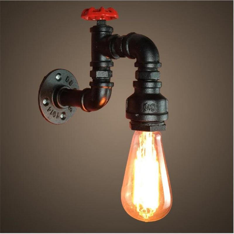 Best Quality Loft Industrial Light Iron Rust Water Pipe Retro Wall Lamp  Vintage E27 Sconce Lights For Living Room Bedroom Restaurant Bar At Cheap  Price, ...