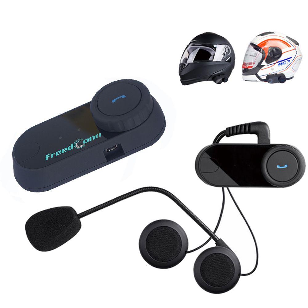 FreedConn BT Bluetooth Motorcycle Casque Interphone Système sans fil Interphone 800m 2 coureurs Casque d'interphone avec radio FM