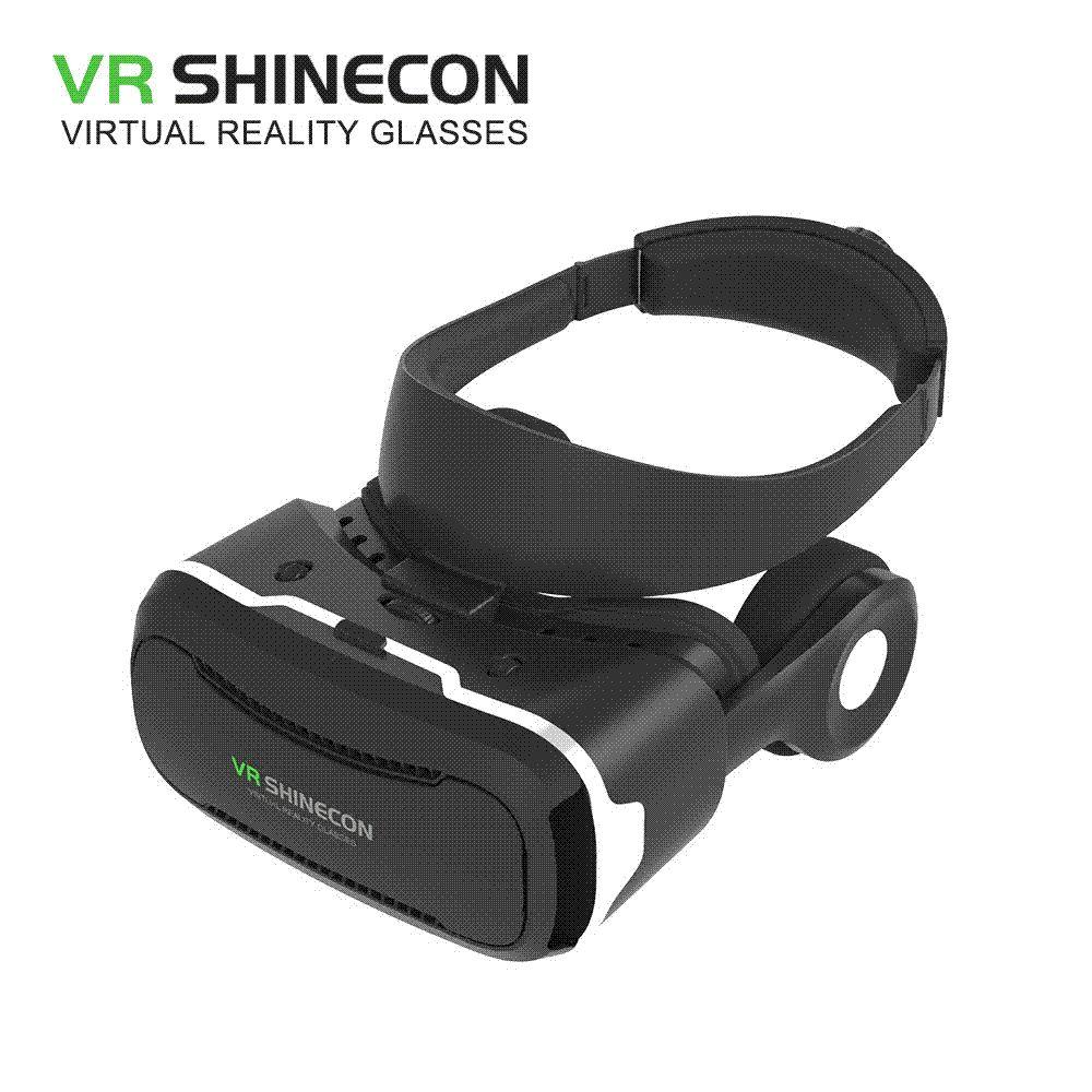 dbb3320193586 Compre Vr Shinecon 4.0 Óculos De Realidade Virtual Óculos 3d Vr Box 2.0  Google Papelão Com Fone De Ouvido Para Smartphone De 4