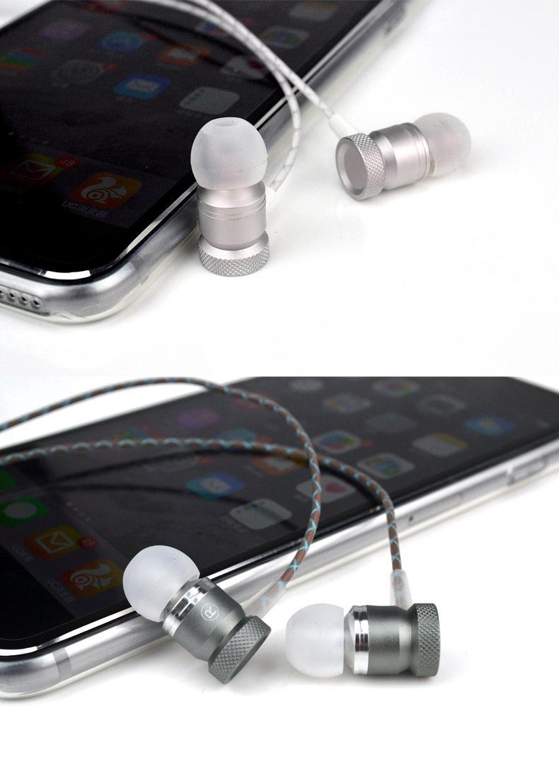 이어폰 이어폰 메탈 이어폰 Subwoofer 핸드폰 이어폰 케이블 iphone samsung xiaomi