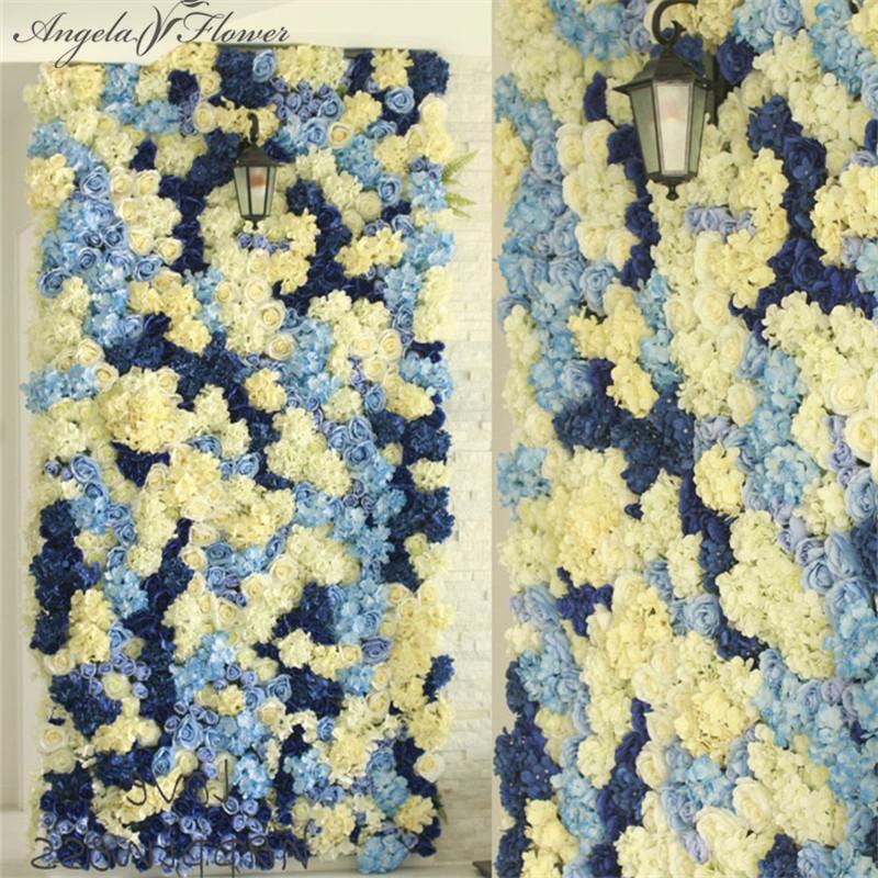 Silk Flower Wall Artificial Flower Window Display Wall Support ...