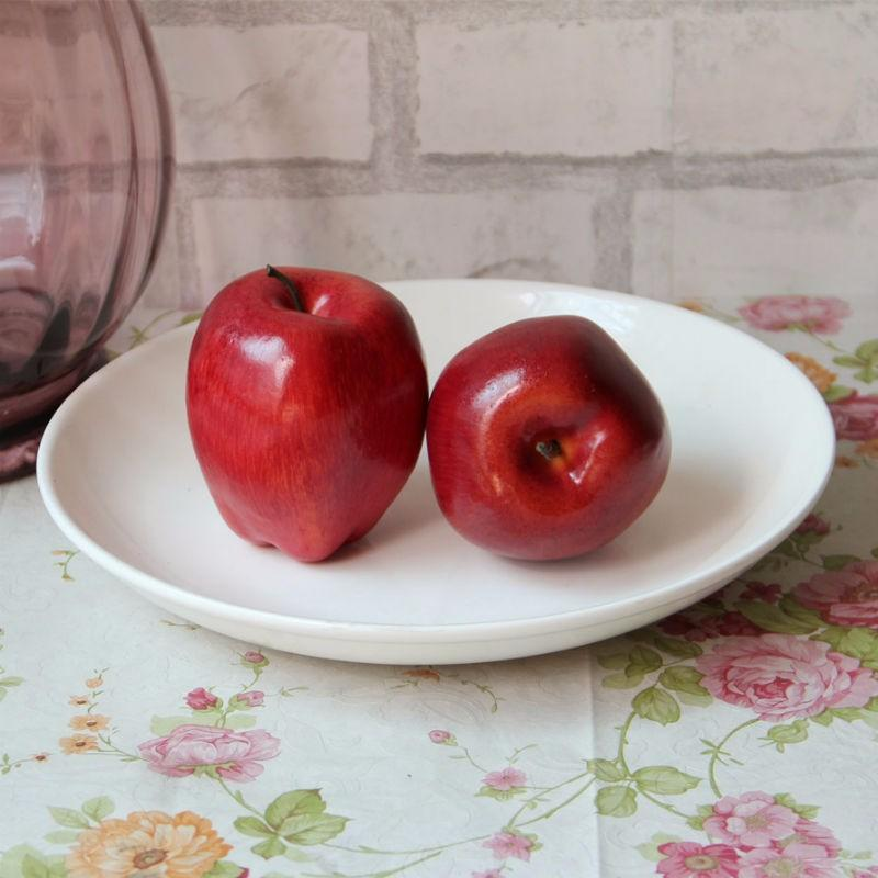 2 pz / lotto Red Delicious Plum / Schiuma di frutta serpente Artificiale Falso Frutta La Casa Wedding Cognitive Toy Tavolo Da Pranzo Decorazioni di natale Stampo