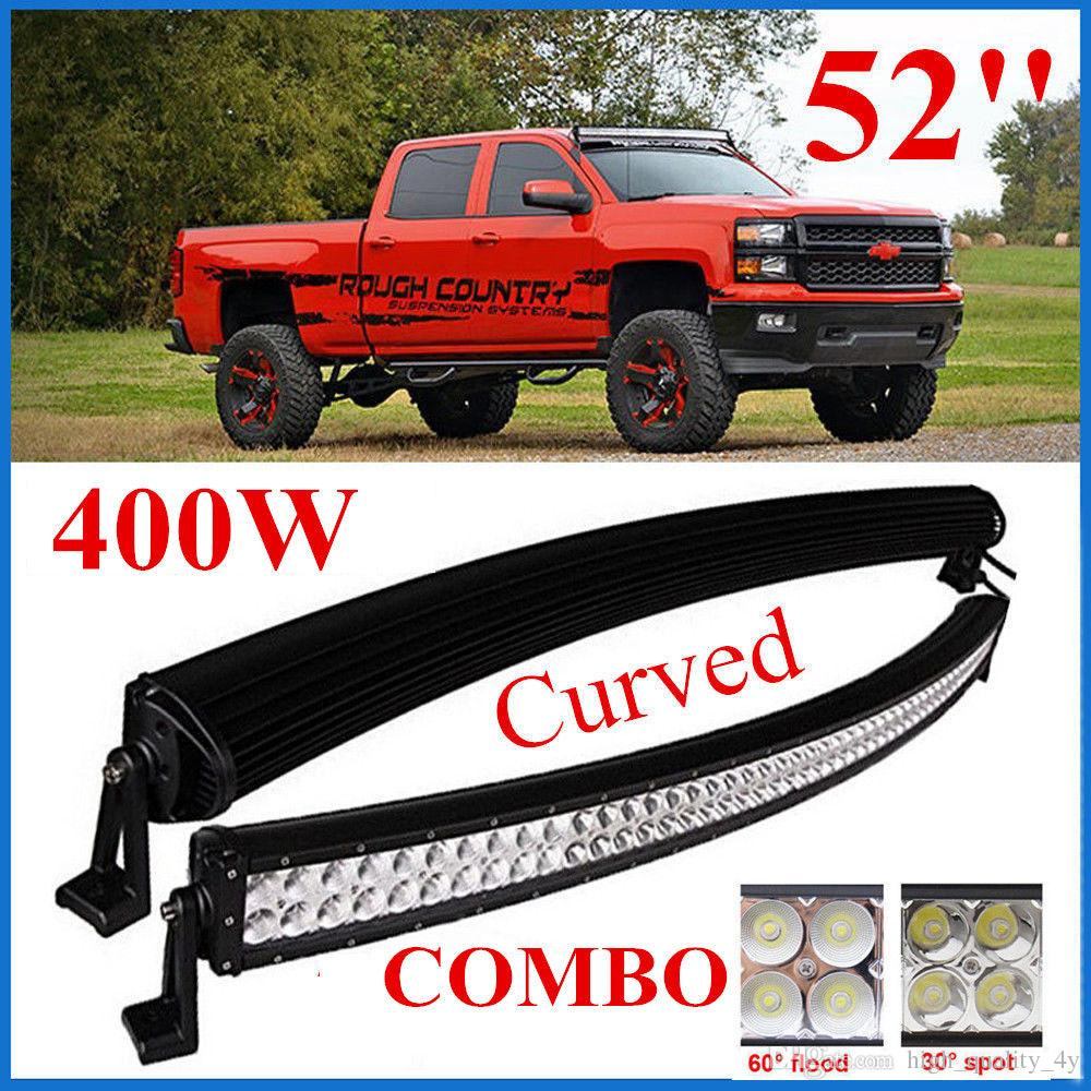 52 Inch 400W LED BAR LED Work Light Bar Off-Road 10-30V Boat Spot ...