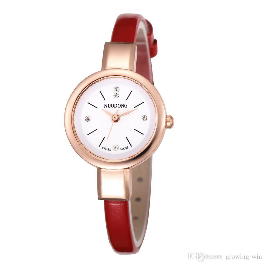 Small Women Simple Design Leather Watch 2017 Wholesale Fashion ...
