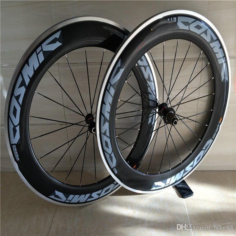 2018 новое прибытие синий термоаппликации cos дорожный велосипед углерода колеса 50 мм clincher 3k глянцевая отделка базальтовой поверхности колеса велосипеда с 350 ступиц колеса