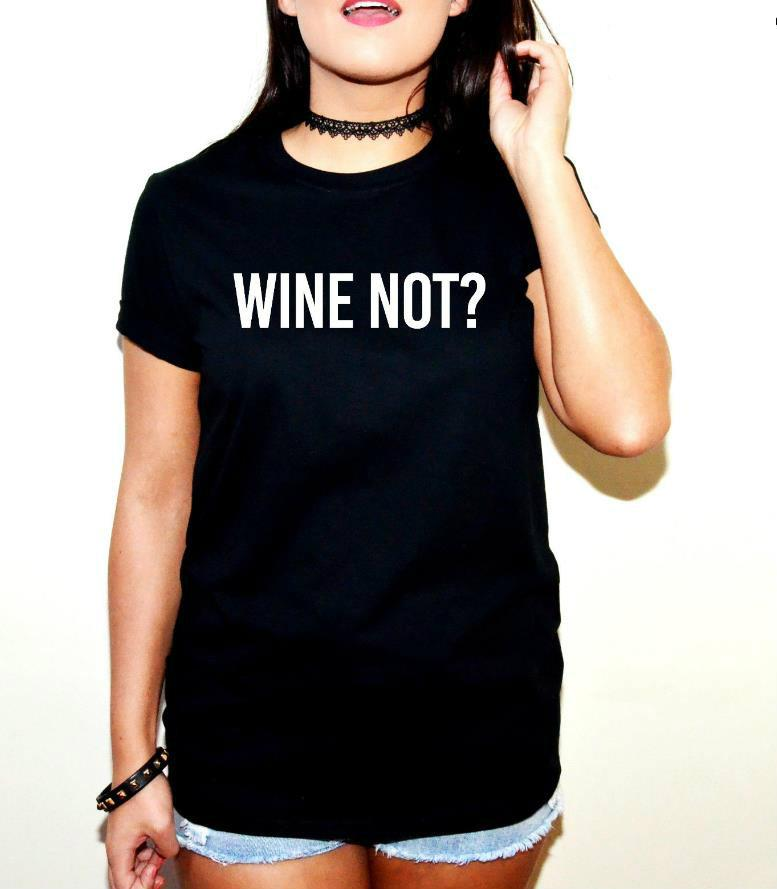 Wholesale Wine Not Letters Print Women Tshirt Casual Cotton ...