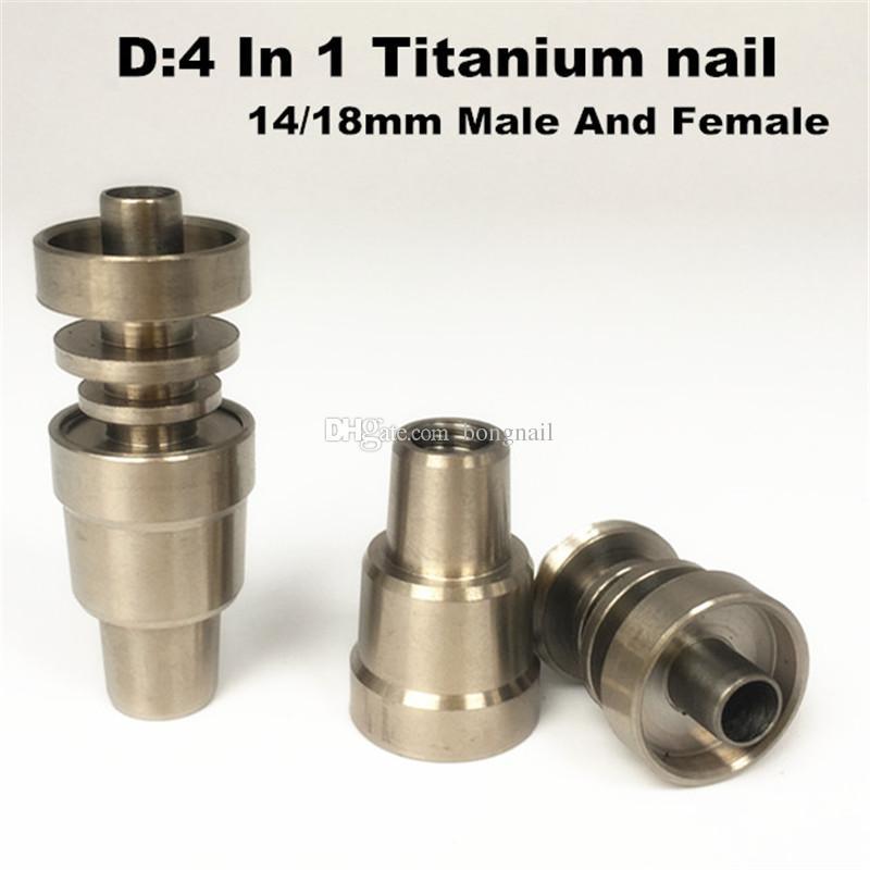 유니버설 티타늄 네일 4 in 1 domeless 티타늄 네일 10 14 18mm female and male 티타늄 못 손톱