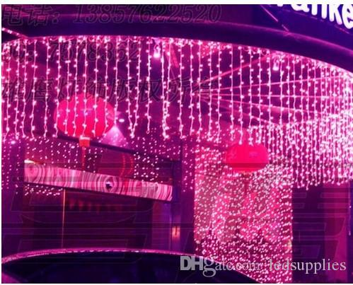 9M*1M 450 LEDS Holiday Lighting Strings Christmas Curtain Garland Chandelier for Home Garden Bar Outdoor Decoration